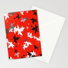 Forever Autumn Leaves red 5 Stationery Cards