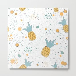 Cute Pineapples Metal Print