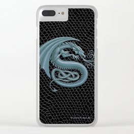 "Dragon Letter S, from ""Dracoserific"", a font full of Dragons Clear iPhone Case"