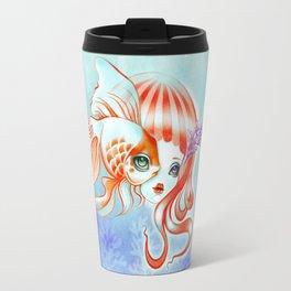 Jellyfish Girl & Goldfish Travel Mug