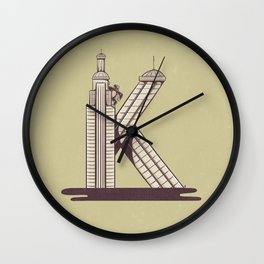 K is for King Kong Wall Clock
