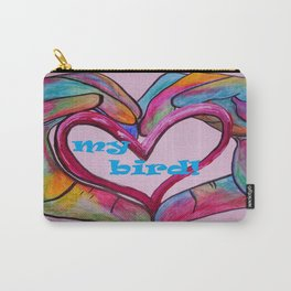 I Heart my BIRD! Carry-All Pouch