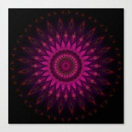 Stain glass Mandala Canvas Print