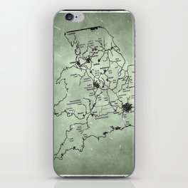 aged canal map iPhone Skin