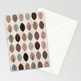 Nature Inspired Leaves Stationery Cards