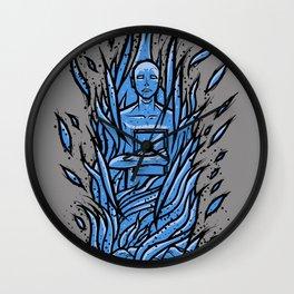 fahrenheit 451 - bradbury blue variant Wall Clock