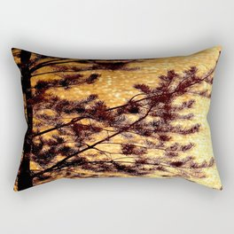 Pine Silhouette at Sunset #decor #society6 #buyart Rectangular Pillow