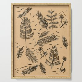 Kraft Paper Pine Serving Tray