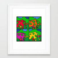cows Framed Art Prints featuring Cows by Stefan Stettner