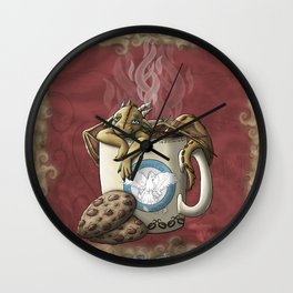Tea Cup Dragon: Coffee Wall Clock