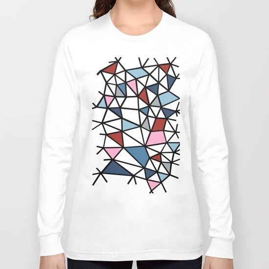 Segment Pink and Blue Long Sleeve T-shirt