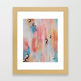 Abstract Watercolor with Leopard Spots Framed Art Print
