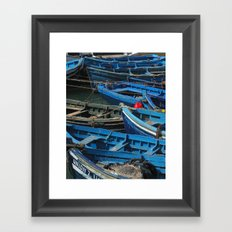 Blue Boats Framed Art Print