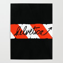 Helvetica Street Cred Poster