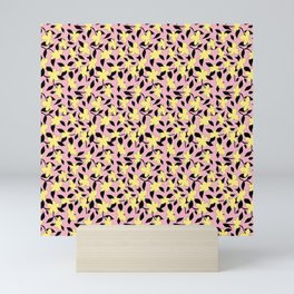 Liberty Print . Floral Seam Pattern . Pink and Yellow Color trend . for fashion and Home decor Mini Art Print