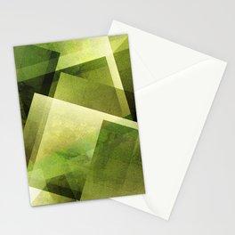 Yellow Green - Digital Geometric Texture Stationery Cards