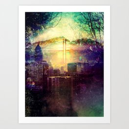 Abstract City Scape Art Print