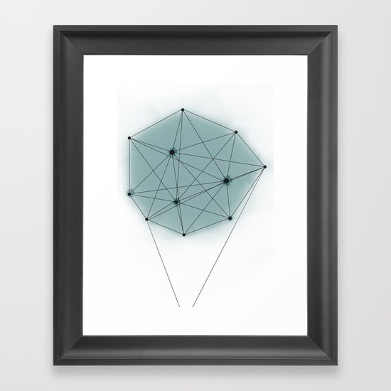 poly_ Framed Art Print