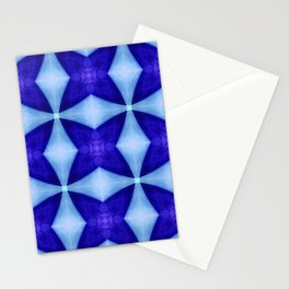 Blue Four Pointed Star-shine Stationery Cards