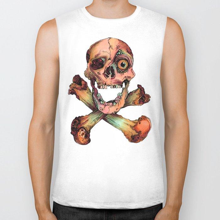 Skull in Color Biker Tank