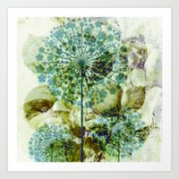 dandelion Art Prints featuring dandelion by clemm