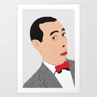 pee wee Art Prints featuring pee-wee by Britt Whitaker Design