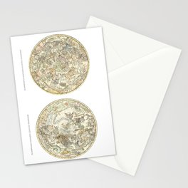 Zodiac chart of Northern and Southern constellations Stationery Cards