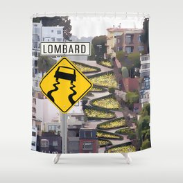 Lombard Street - San Francisco Shower Curtain