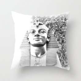 The Sphinx portrait Cleopatra's needle London UK Throw Pillow