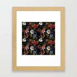 Moody Floral Garden Framed Art Print