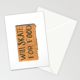 Will Skate For Food Stationery Cards