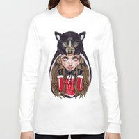 red hood Long Sleeve T-shirts featuring Red Riding Hood by Giulio Rossi