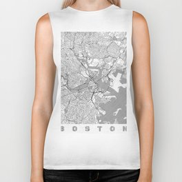 Boston Map Line Biker Tank