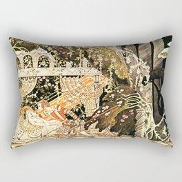 "Kay Nielsen Fairytale Illustration ""Sleeping Beauty"" Rectangular Pillow"