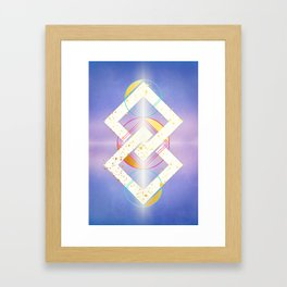 Linked Lilac Diamonds :: Floating Geometry Framed Art Print
