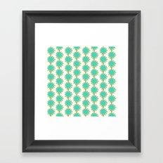 Flower Stripes Framed Art Print