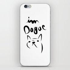 dogue french bulldog iPhone & iPod Skin