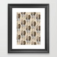 Bouffant Birds Pattern Framed Art Print