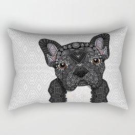 Black Frenchie 001 Rectangular Pillow
