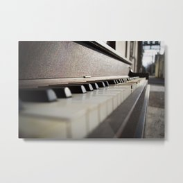 Neglected Piano Metal Print