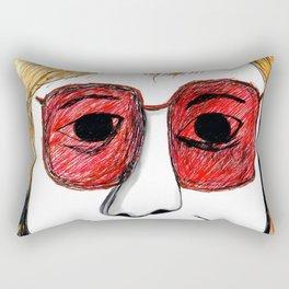 Andrea Riseborough on the battle of the sexes Rectangular Pillow