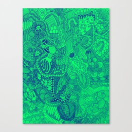 The Underbrush Minty Canvas Print