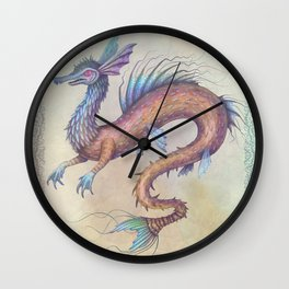 Griffin of the Sea Wall Clock