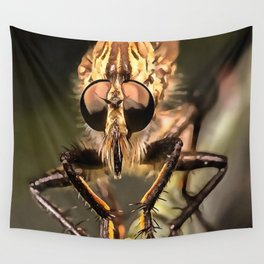 Robber Fly Profile Asildae Close Up Wall Tapestry