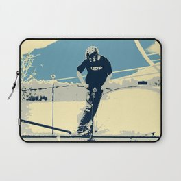 On the Rim - Scooter Boy Laptop Sleeve