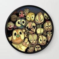 potato Wall Clocks featuring Potato animals by Johan Malm
