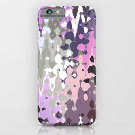 Violet shades icicles, abstract geometric jagged shapes, sharp forms iPhone Case