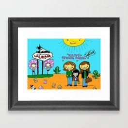 Sisters in Vegas Framed Art Print