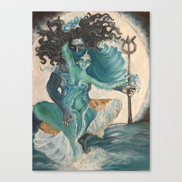 lord shiva and parvati Canvas Print