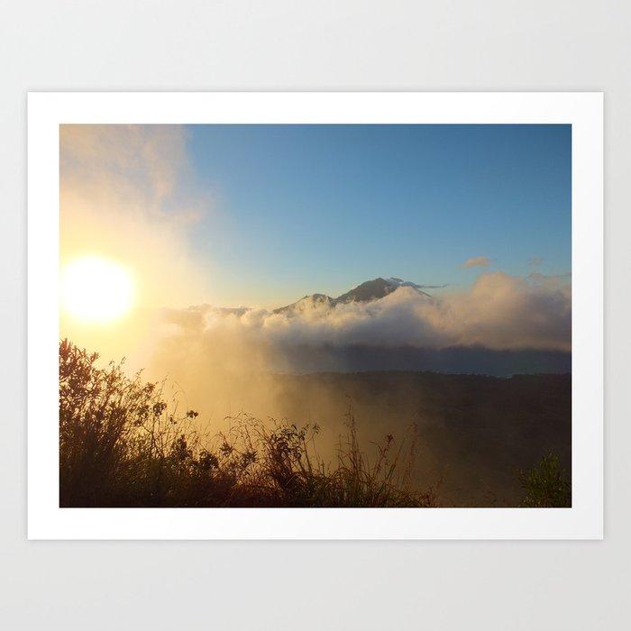 Sunrise at Mt. Batur Art Print